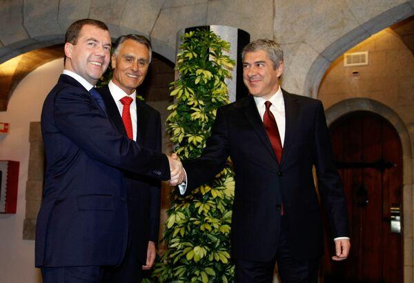 Президент России Дмитрий Медведев посетил Лиссабон