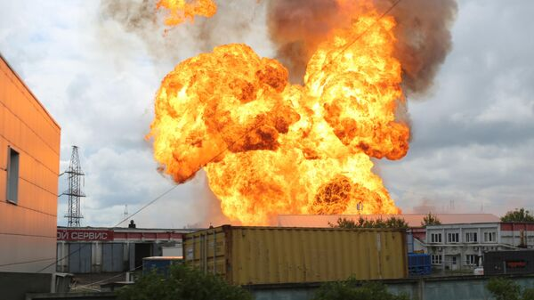 Пожар на территории Северной ТЭЦ в Мытищах