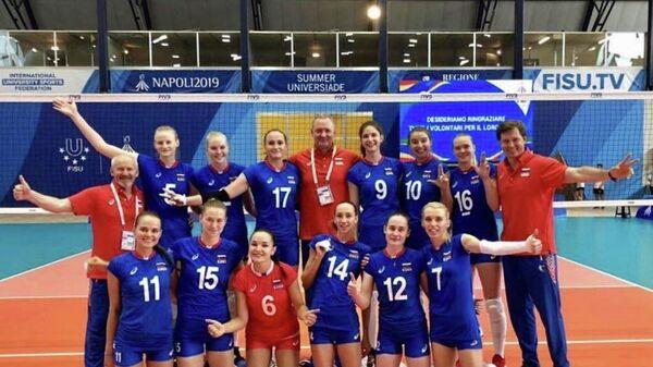 Волейболистки сборной России на Уриверсиаде