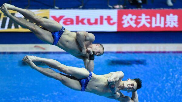Чемпионат мира FINA 2019. Синхронные прыжки в воду. Мужчины. Трамплин 3 м