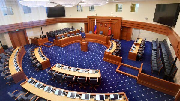 Зал заседаний в здании Московской городской Думы