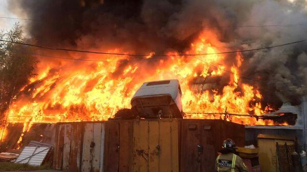 Пожар на складе в Наро-Фоминске. 14 июля 2019