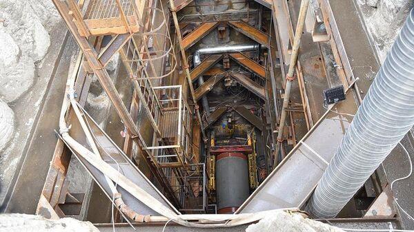 Подводный тоннель для газопровода-дюкера Автозаводский в районе Нагатинской набережной Москвы