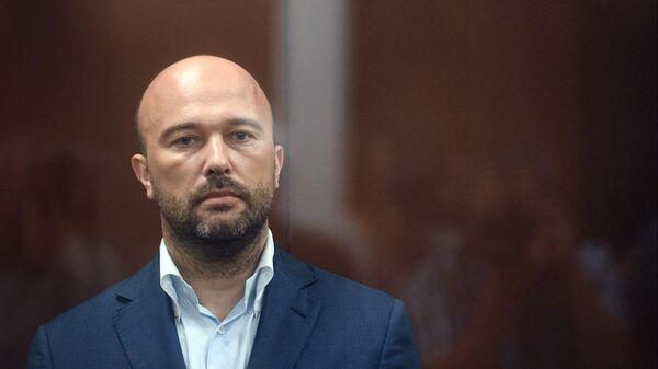 Дмитрий Мазуров в зале заседаний Тверского суда Москвы