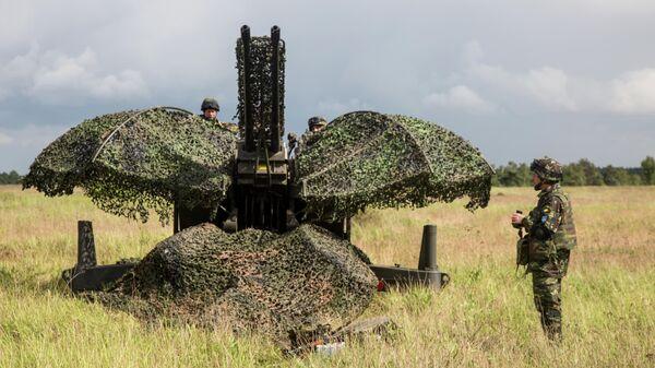 Автоматическое компьютеризированное зенитное орудие Oerlikon GDF-203 на совместных учениях стран НАТО