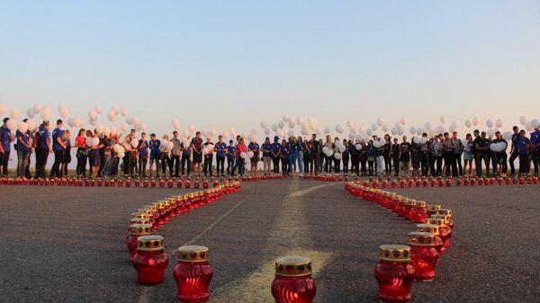 В ЛНР запустили в небо шары в память о жертвах авиакатастрофы MH17