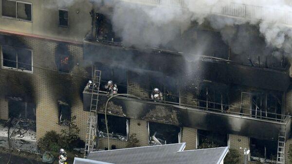 Ликвидация пожара в студии аниме в японском городе Киото. 18 июля 2019