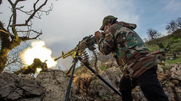 Военнослужащий правительственной армии Сирии