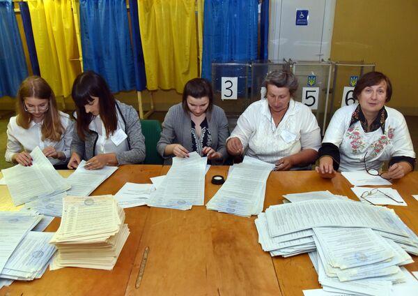 Подсчет голосов досрочных выборов в Верховную раду Украины