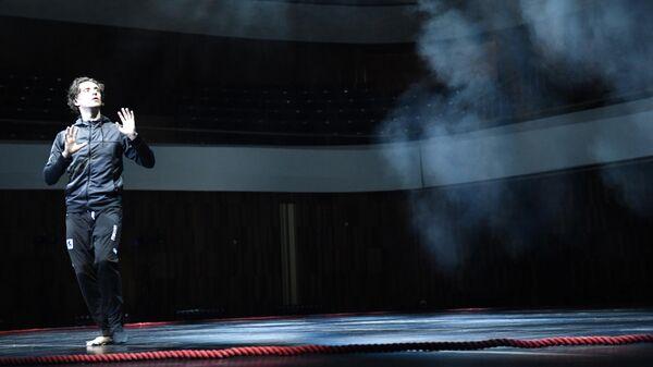 Сергей Полунин во время репетиции балета Sacre в постановке Юко Оиши