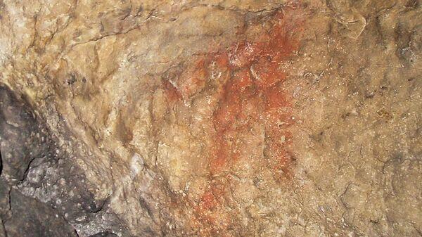 Наскальное изображение человека в Игнатьевской пещере