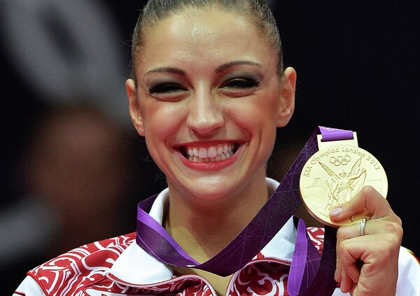 Российская гимнастка Евгения Канаева
