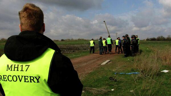 Эксперты из Нидерландов и Малайзии работают на месте крушения малайзийского самолета Boeing, выполнявшего рейс MH17 Амстердам — Куала-Лумпур