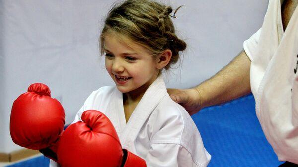 Воспитанница детско-юношеской спортивной школы единоборств