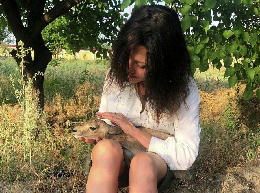 Прямо сейчас новорожденный джейранчик писает мне на колени, Узбекистан