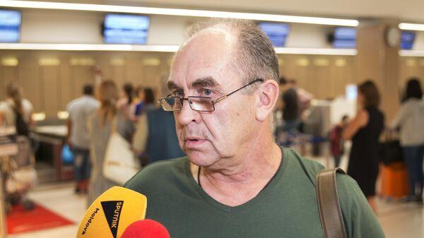 Старший механик задержанного в порту Измаил российского танкера Сергей Карпов в аэропорту Кишинева. 25 июля 2019