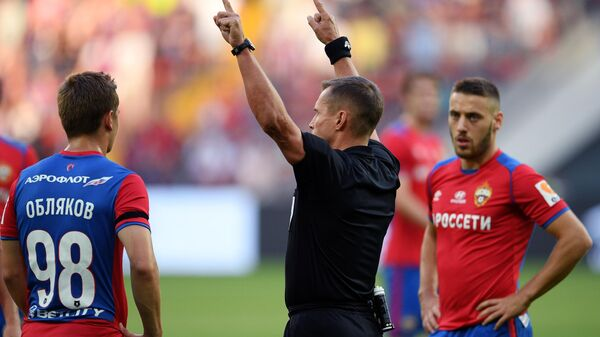 Главный судья матча ЦСКА - Локомотив  Владислав Безбородов