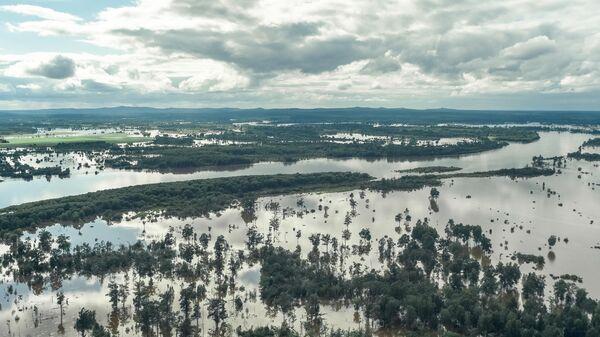 Территория, затопленная в результате разлива реки Селемджа, в Мазановском районе районе Амурской области