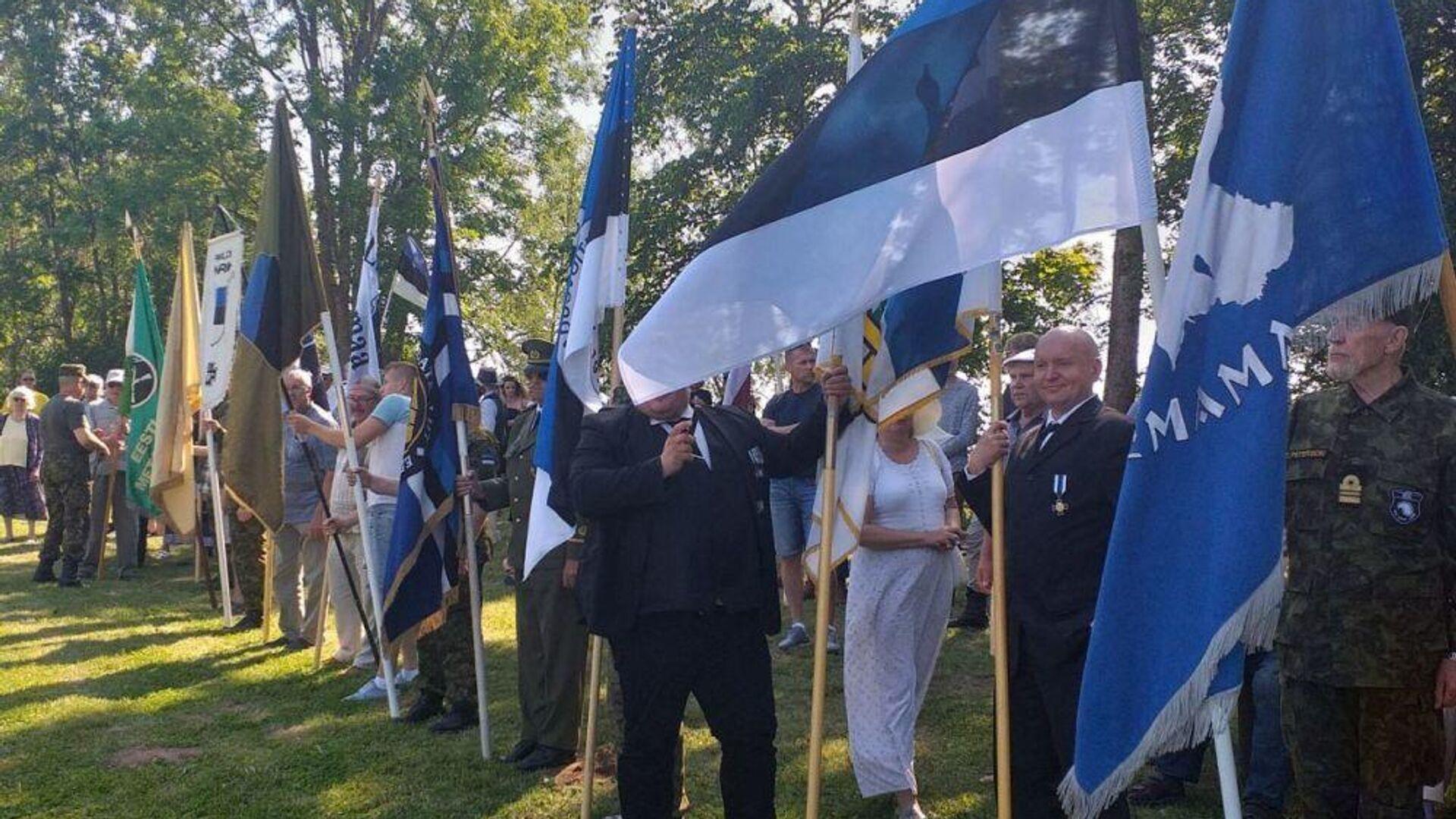 Церемония в Синимяэ в память 20-й дивизии Ваффен-СС - РИА Новости, 1920, 31.07.2021