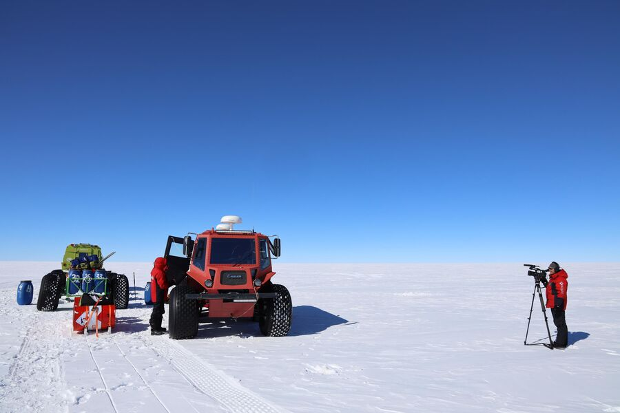 Антарктида, съемочный процесс