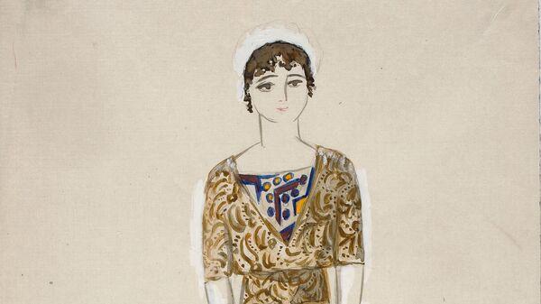 Эскиз платья для модного дома Надежды Ламановой, 1910-1914