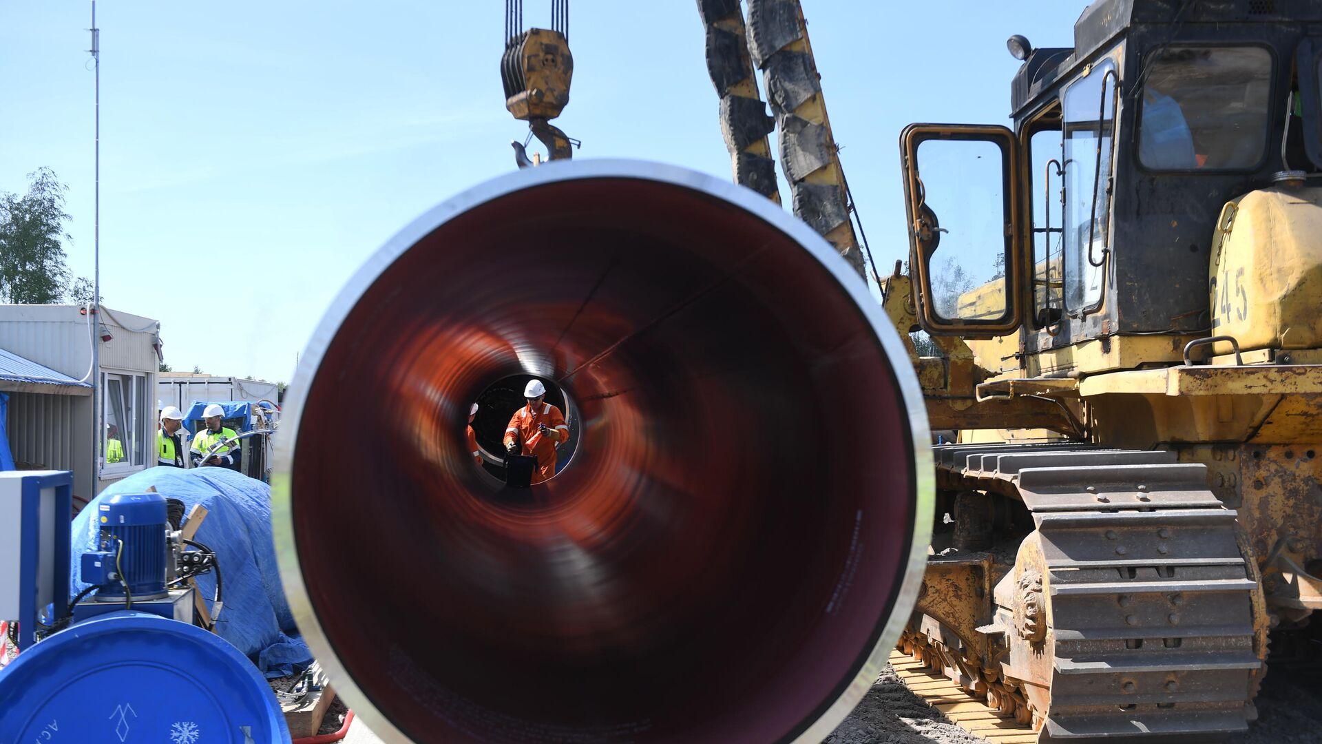 Строительство газопровода Северный поток-2 в Ленинградской области - РИА Новости, 1920, 20.10.2020