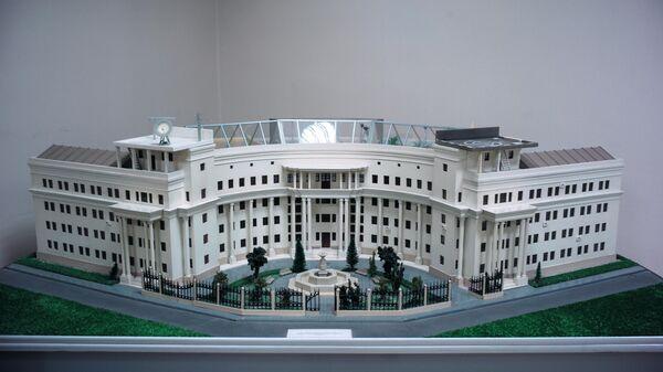 Макет основного корпуса киностудии имени М. Горького