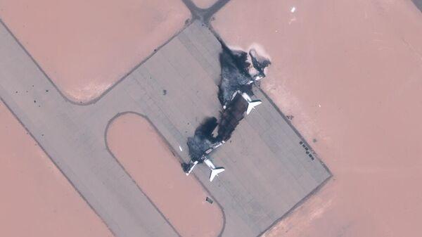 Военно-транспортные самолеты Ил-76 частной украинской компании, уничтоженные в Ливии