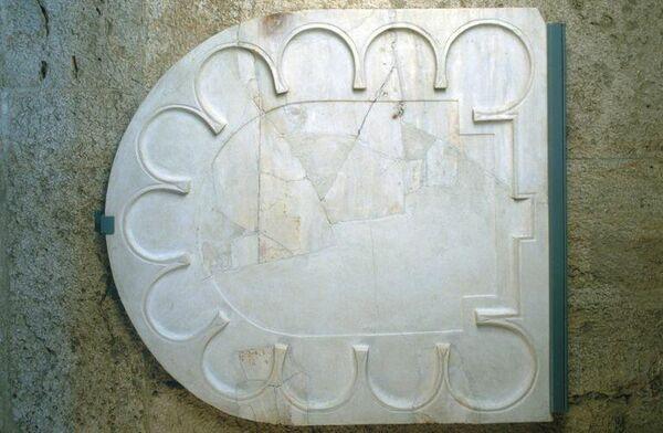 Мраморная столешница. V-VI век, музей Метрополитен, Нью-Йорк