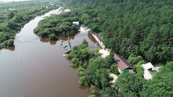 Благовещенск: река Безымянка затопила детский лагерь Колосок