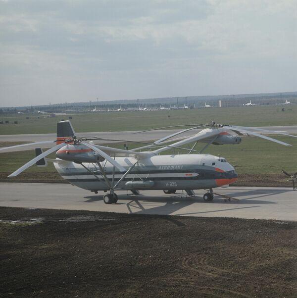 Сверхтяжелый двухвинтовой вертолет В-12 (МИ-12)
