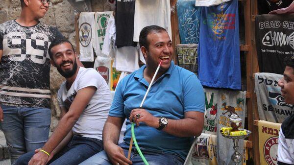 Торговцы в арабском квартале Иерусалима