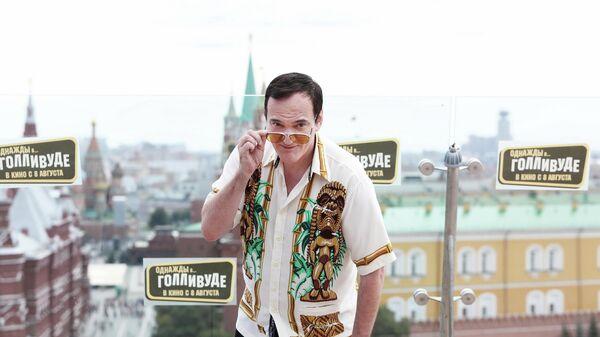Квентин Тарантино на фотоколле фильма Однажды... в Голливуде