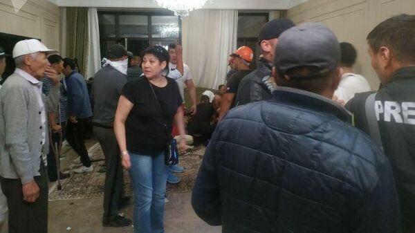 Ситуация в доме бывшего президента Алмазбека Атамбаева