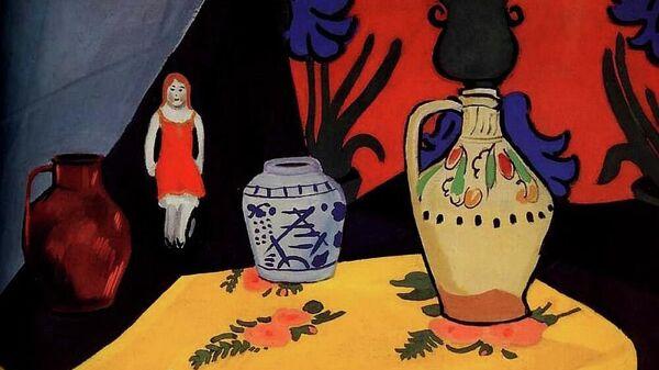 И. С. Школьник. Натюрморт с желтой скатертью. 1910-е. ГРМ