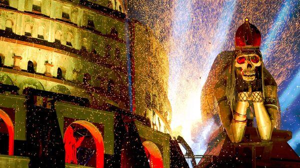 Декорации во время Кульминации на XXIV Международном Байк-шоу Тень Вавилона у горы Гасфорта под Севастополем