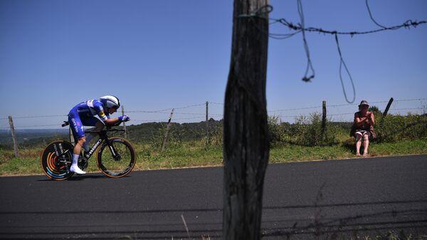 Велогонщик Элиа Вивиани (Италия)