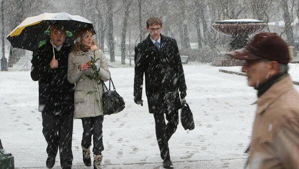 Тёплая погода в Москве. Архив