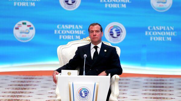 Дмитрий Медведев на торжественном заседании международной конференции в рамках Первого Каспийского экономического форума. 12 августа 2019