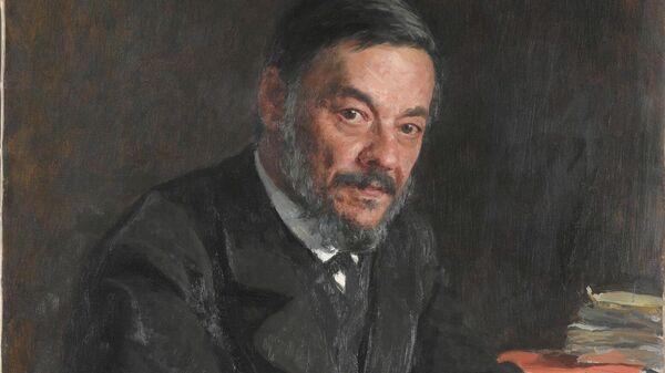 Портрет физиолога И. М. Сеченова. Художник И. Репин, 1889 год