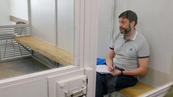 Руководитель портала РИА Новости Украина Кирилл Вышинский на заседании Киевского апелляционного суда