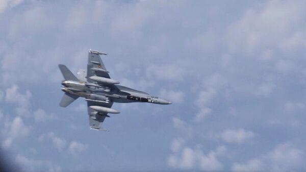 Истребитель НАТО F-18 попытался приблизиться к самолету российского министра обороны Сергея Шойгу  над нейтральными водами Балтийского моря