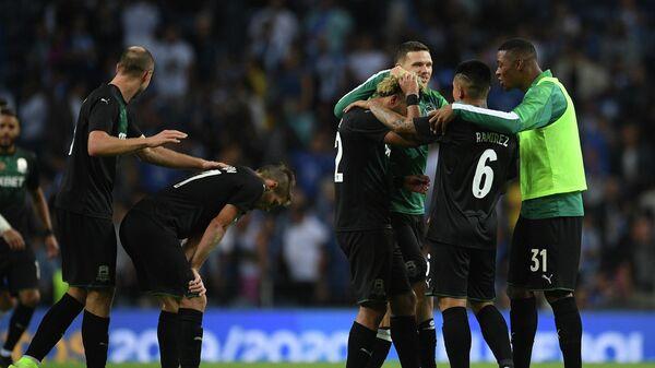 Футболисты Краснодара радуются побед