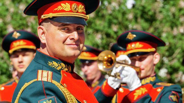 Начальник оркестра Почетного караула майор Павел Гернец