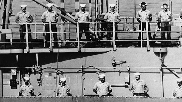 Команда эсминца USS Vincennes. 1988 год