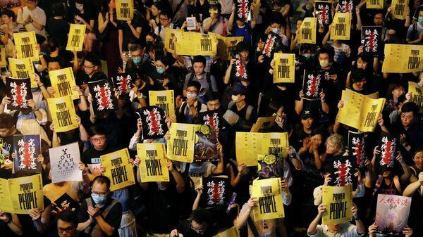 Протестующие в Гонконге, Китай. 16 августа 2019