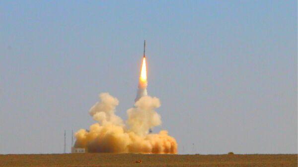 Запуск новой микроракеты-носителя Цзелун-1 с космодрома Цзюцюань в провинции Ганьсу, КНР