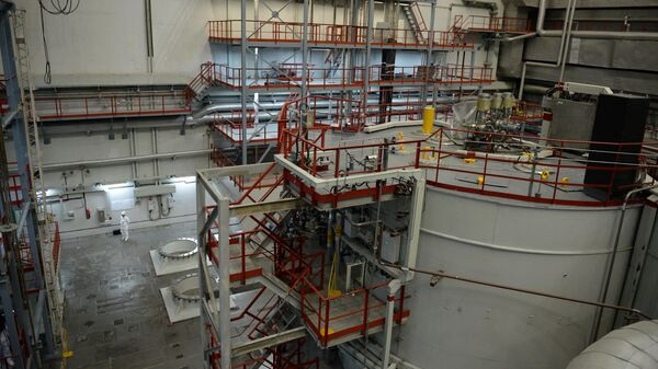 Центральный зал 4-го энергоблока с реактором БН-800 Белоярской атомной электростанции