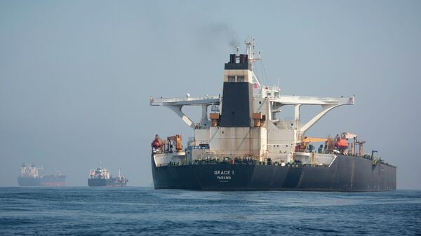 Нефтяной танкер Grace 1 (новое название  - Adrian Darya)