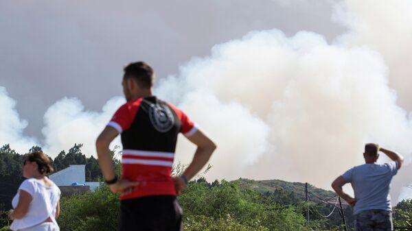 Лесной пожар на Канарских островах